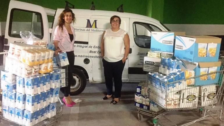 Marinas del Mediterráneo ayuda a más de 1.000 familias de sus tres zonas de influencia con la aportación de alimentos