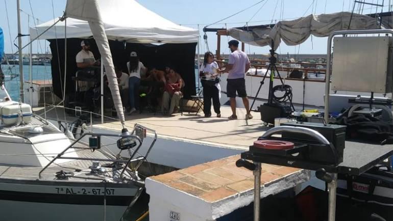 El Puerto Deportivo de Estepona se convierte en escenario para rodar un anuncio de Bollywood