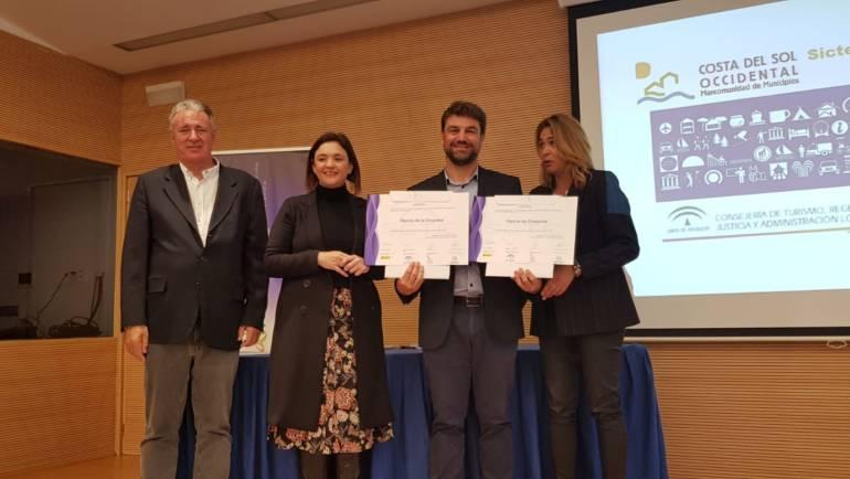 Grupo Marinas del Mediterràneo reçoit les différents SICTED pour le port de La Duquesa et la Marina d'Estepona
