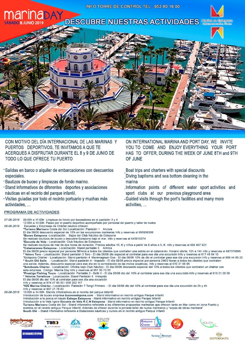 Marinas del Mediterráneo celebra el Marina Day el 8 de junio con numerosas actividades en sus puertos deportivos