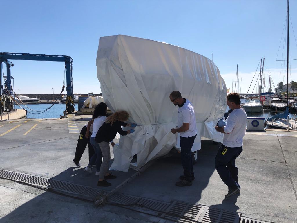 Cours de thermoséting de bateau interne à Marina del Este