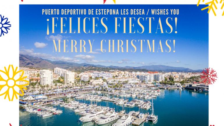 El Puerto Deportivo de Estepona te desea una Feliz Navidad