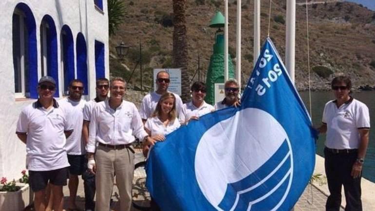 Izado de Bandera Azul en el Puerto Marina del Este