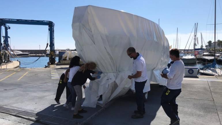 Curso interno de termosellado de embarcaciones en Marina del Este