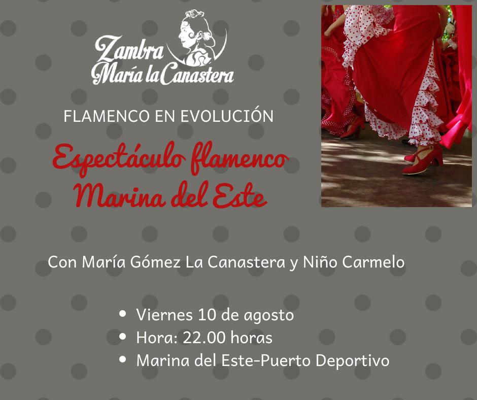 Marina del Este acoge este viernes el espectáculo 'Flamenco en Evolución'