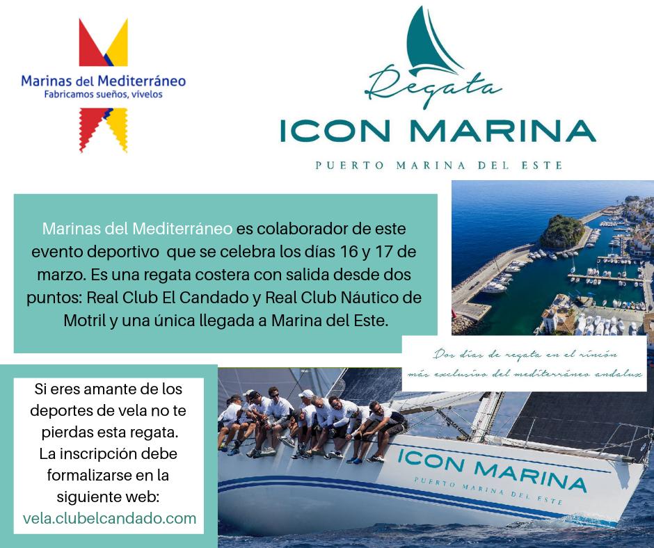 Marinas del Mediterráneo, colaborador de la Regata Icon Marina, que tendrá su llegada a Marina del Este