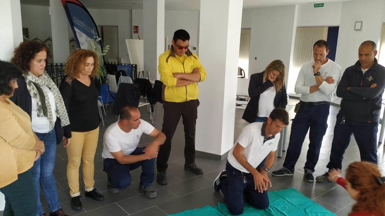 Curso de formación de soporte vital básico y DESA para el personal del Puerto Deportivo de Estepona