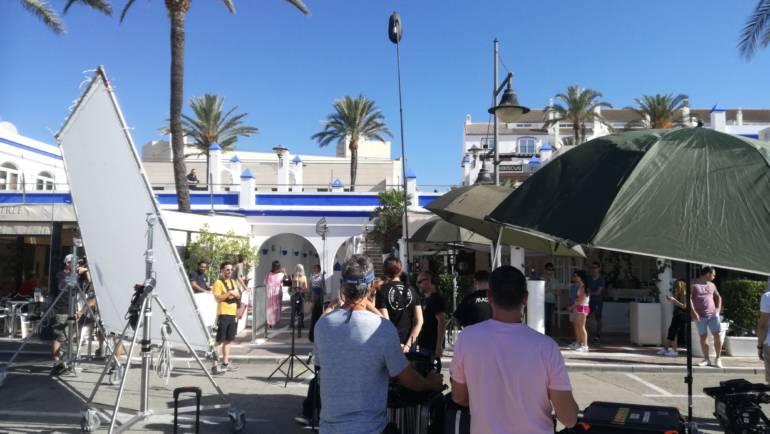 El Puerto Deportivo de Estepona se convierte en escenario de rodaje de una película para Atresmedia