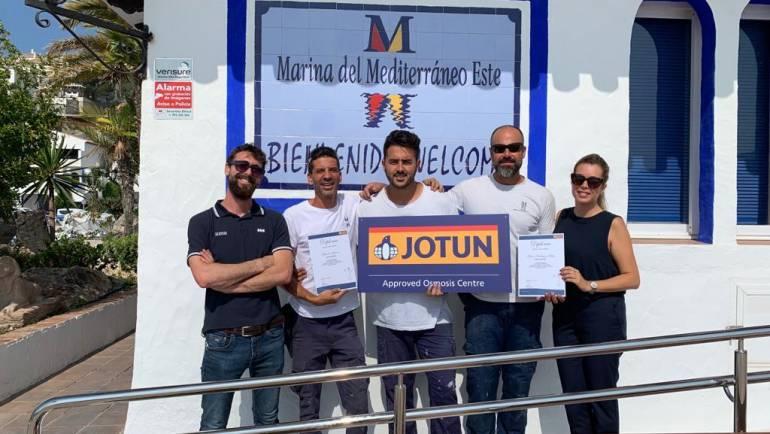 Les Varaderos de Marina del Este et Puerto de La Duquesa, centres officiels de traitement de l'osmose de Jotun.