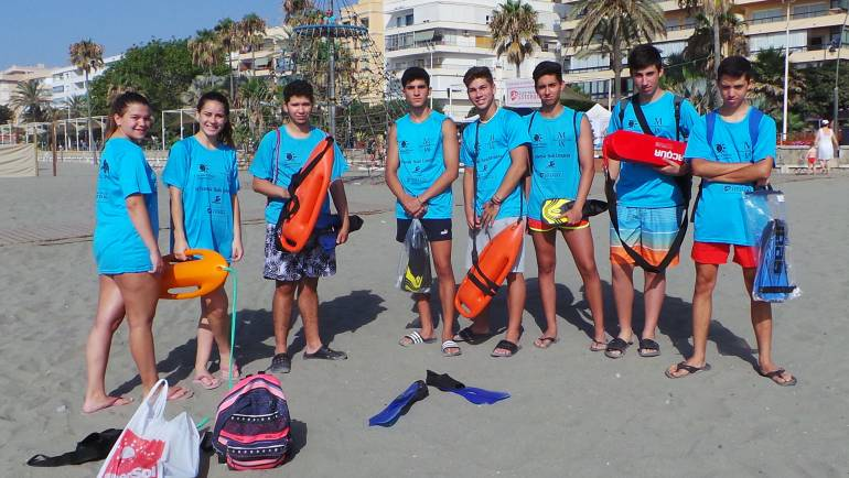 La marine méditerranéenne, croisière de sponsor IV natation Estepona