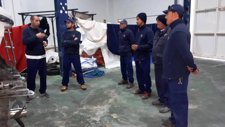 Boat thermosealing course at the Port of La Duquesa