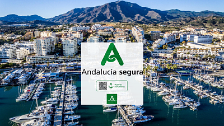 The Marina of Estepona obtains the distinctive 'Andalucía Segura'