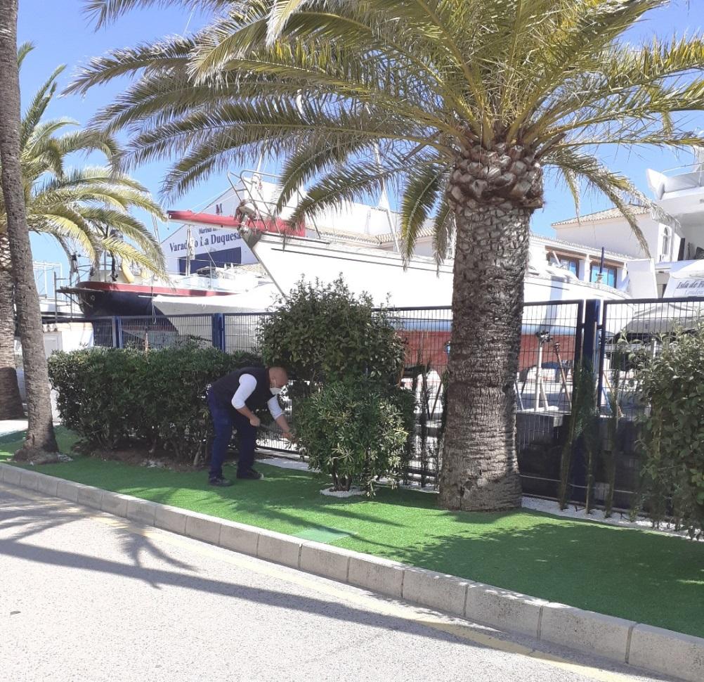 Trabajos de jardinería-Puerto de La Duquesa