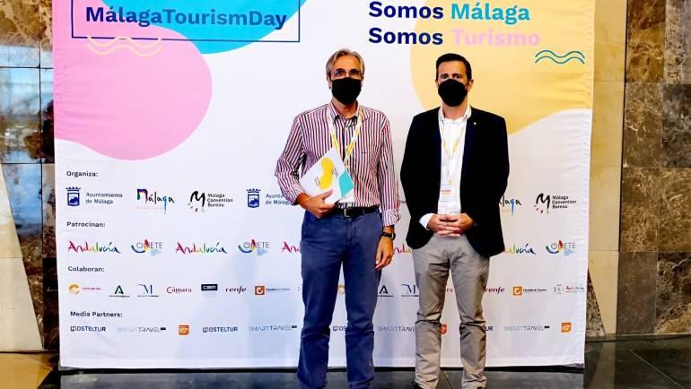 Der Geschäftsführer von Mediterranean Marinas, Manuel Raigon, teilnahmet am Malaga Tourism Day