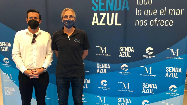 Le directeur général de Marinas del Mediterráneo, Manuel Raigon, a assisté à la présentation du projet de la Voie Bleue